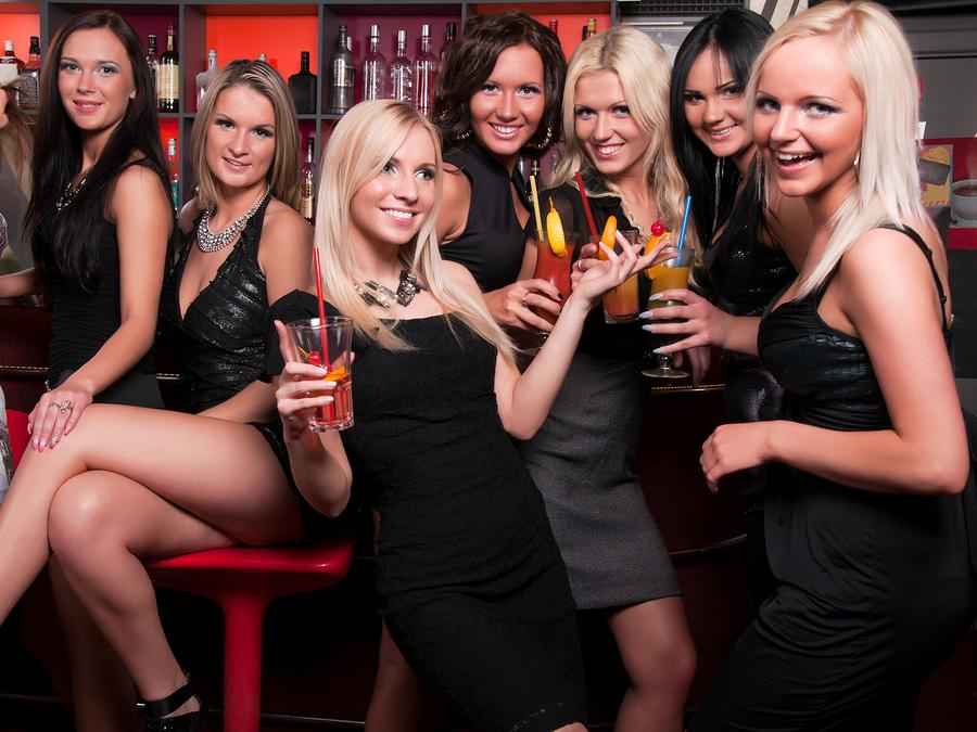 At A Bar Up Women Picking
