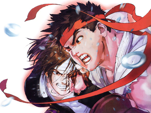 Kyo knocking out Ryu