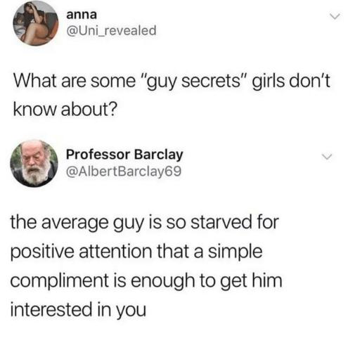 Secrets about Men